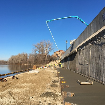 Image of Minneapolis Pump Station #5 North Floodwall Rehabilitation, Minneapolis Water Treatment and Distribution Services
