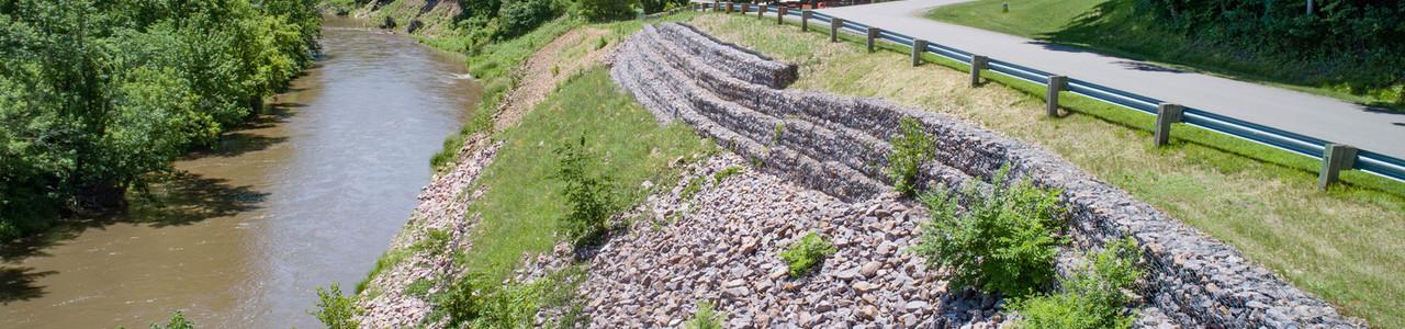 River Park Drive Erosion Control, Mankato Township, Minnesota