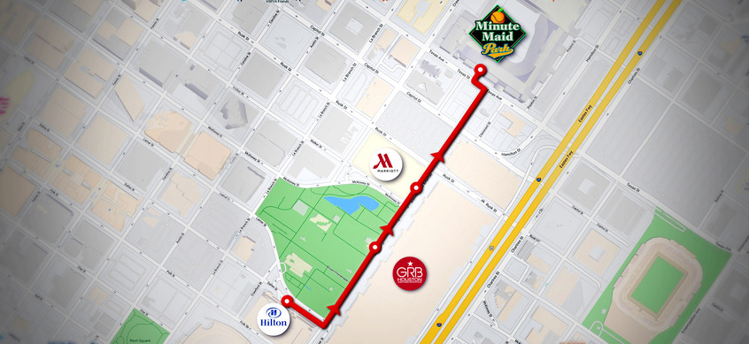 map to Minute Maid park from ILTA