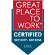 2017 - 2018 Great Place to Work