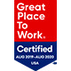 Great Place to Work 2019 - 2020