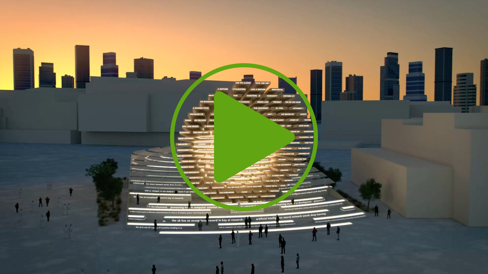 Video render of the pavilion