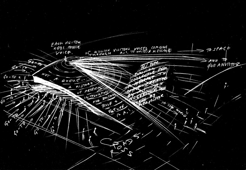 Es Devlin concept sketch for the UK Pavilion