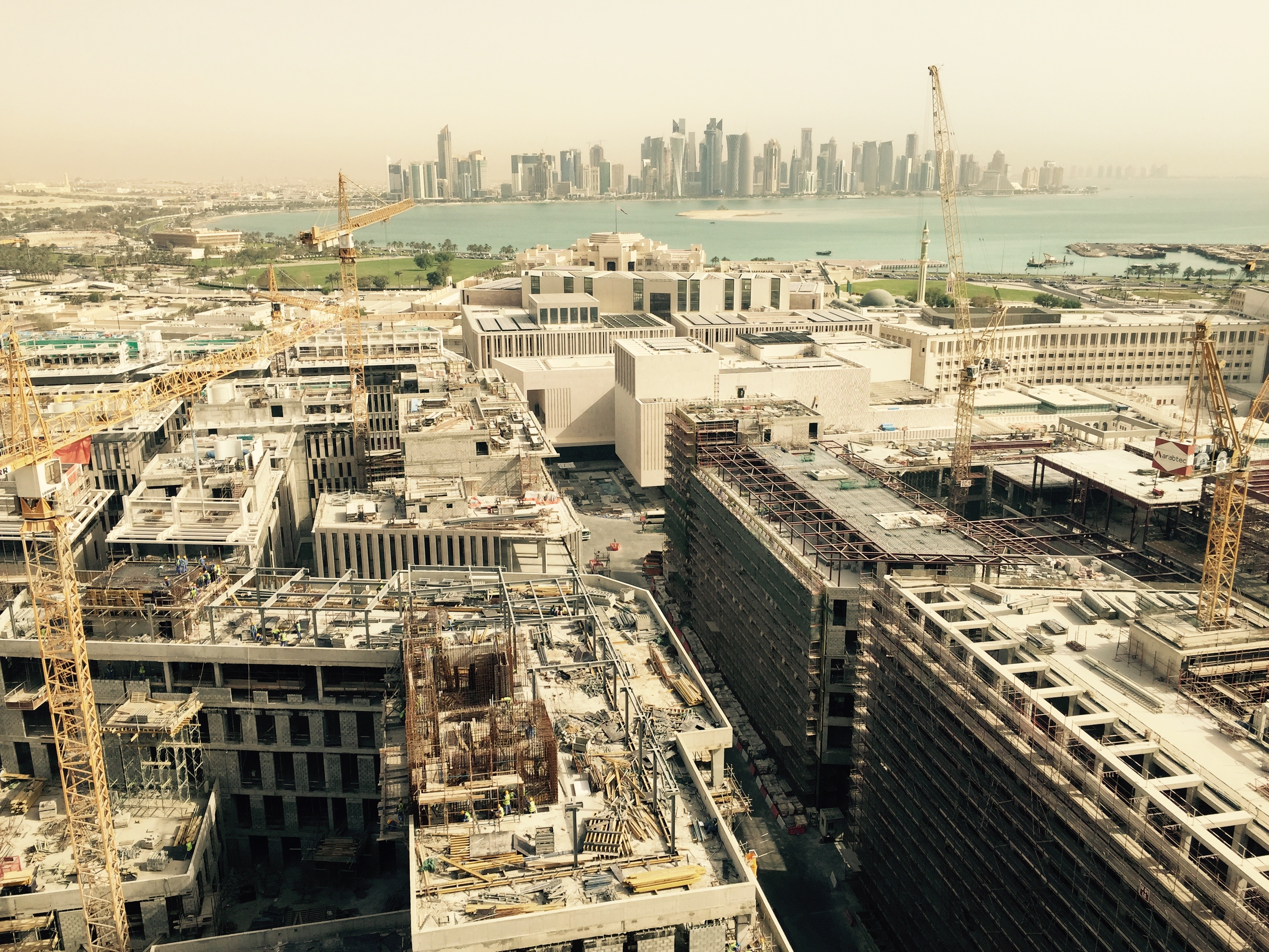 Construction of Downtown Doha well underway, as of April 2015