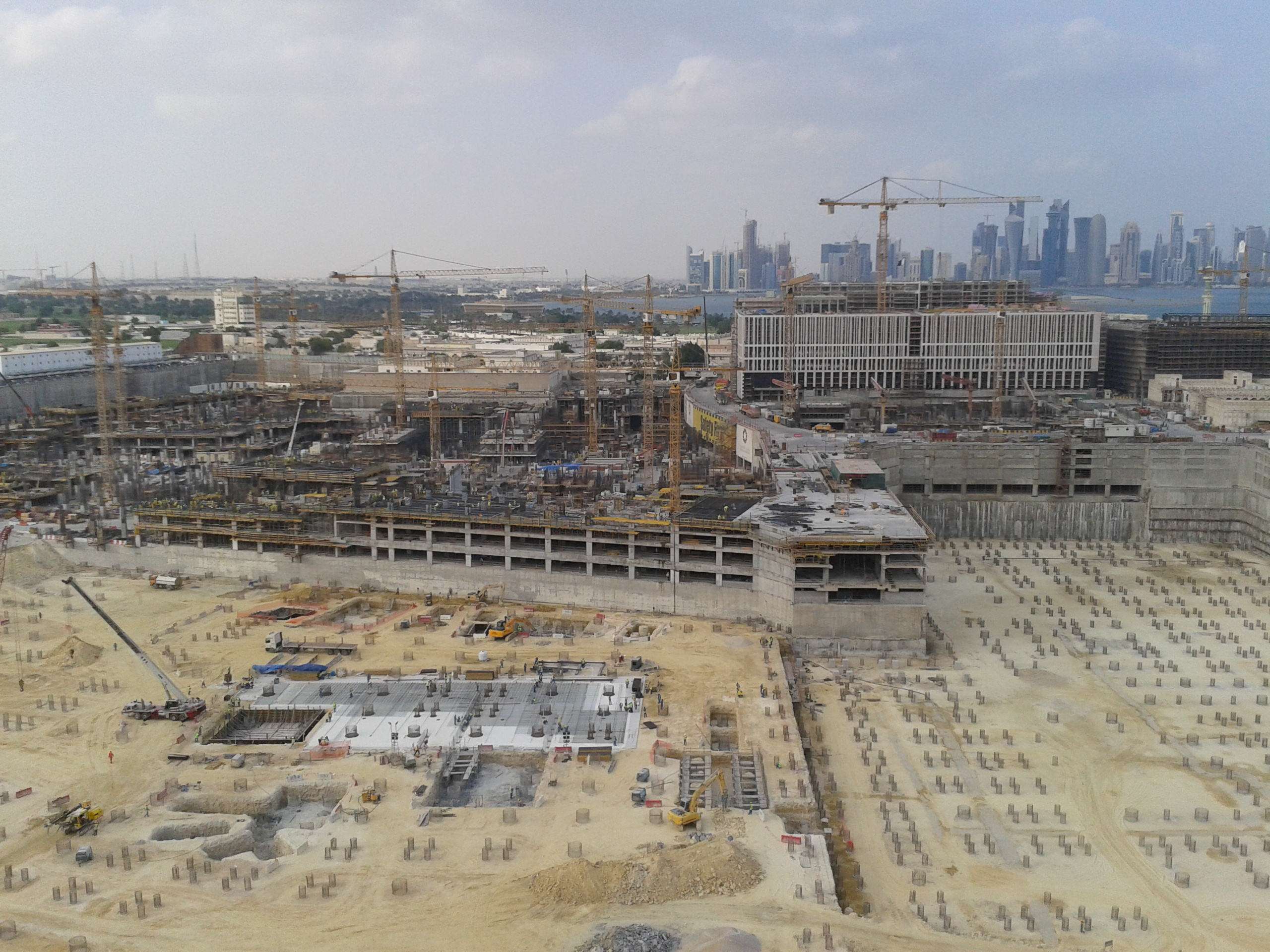 The site for the Msheireb Downtown Doha project in November 2012