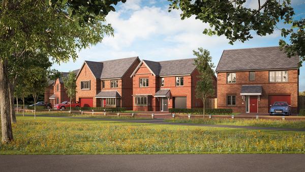 CGI of Avant Homes development Fairway View in Burnopfield