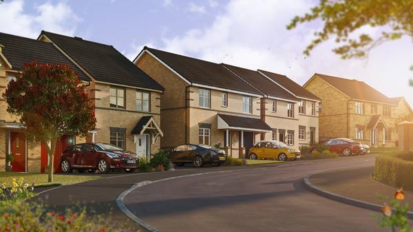 Street scene CGI of Fitzwilliam Grange