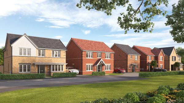 CGI street scene of Avant Homes Furlong Park development in Doncaster