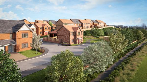 CGI of Avant Homes development Allenson View in West Rainton County Durham