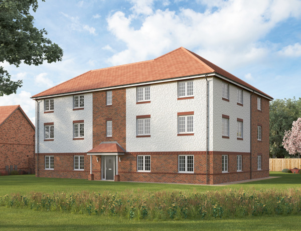 CGI of apartments at Avant Homes' development Purbeck Village in Warwick