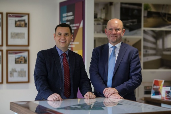 Avant Homes Land director, Mark Wilson and senior land manager, Wes English