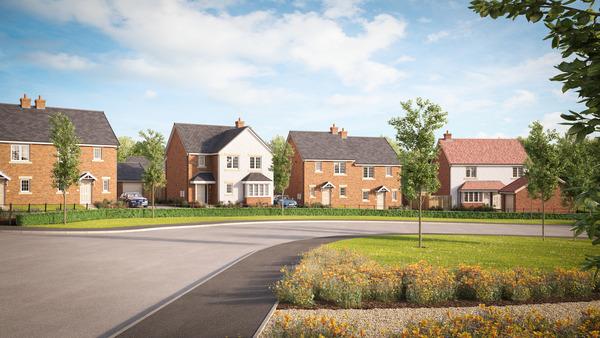 CGI of Avant Homes' Ambretone Park development