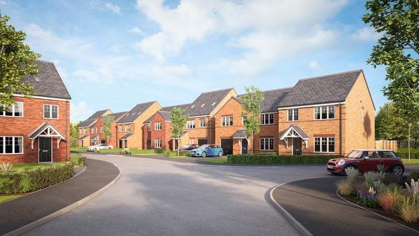 CGI of Avant Homes Wellington Park development in Sunderland