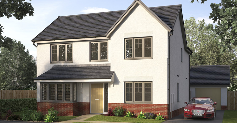 CGI of home at Avant Homes development Jackton Green in East Kilbride