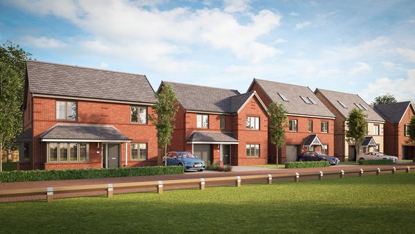 CGI of Avant Homes development Sorby Park in Waverley